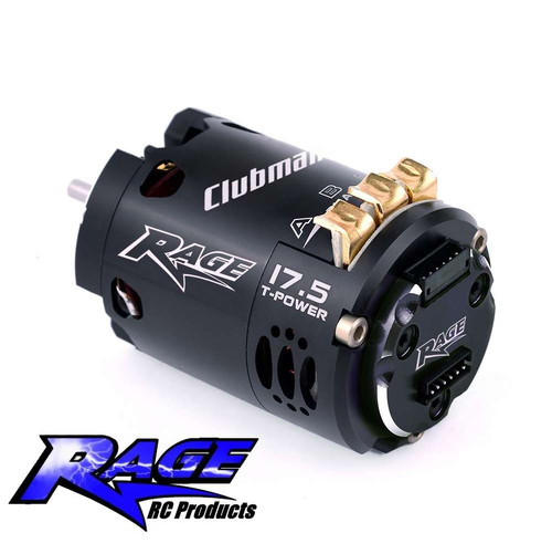 """Rage """"Clubman"""" 17.5T Brushless Motor - New gold end-bell version"""