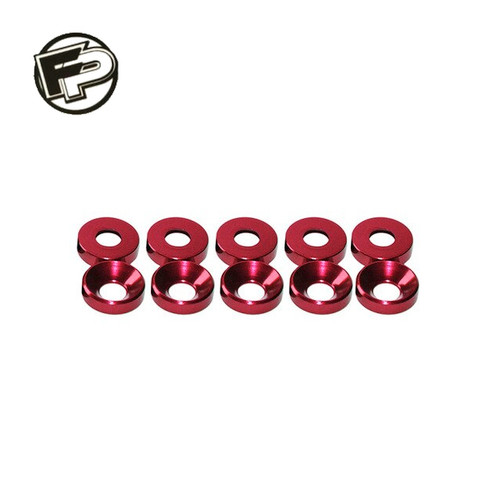 Factory Pro M3 Red Countersunk Washer (10 pcs)