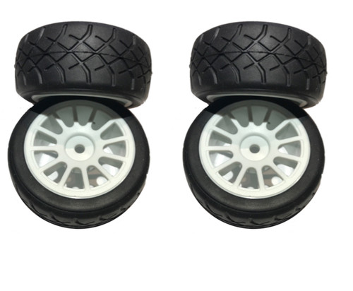 SRC Carpet Master M Chassis MTC Carpet Radial on Rim (4pcs)