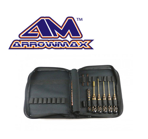 Arrowmax Toolset 1/10 Electric Touring + Bag Black Golden (8pcs)