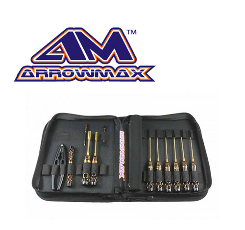 Arrowmax Toolset 1/10 OffRoad + Bag Black Golden (12pcs)