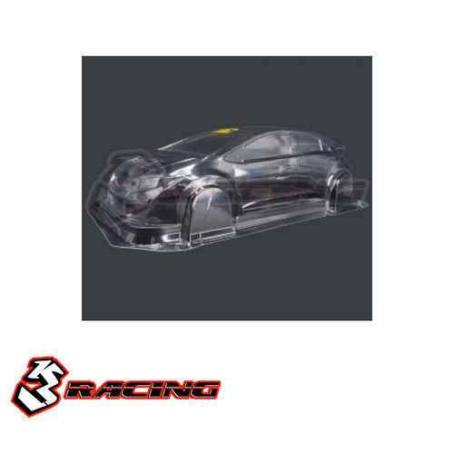 3 Racing M Chassis Body Civic without Decal MK9F (225mm WB)