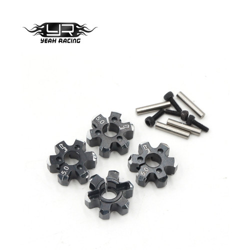 5.0mm Light Weight Wheel Hex 12mm Fitment Black Alloy