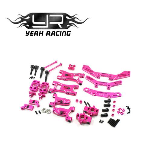 Alloy D4 Steering & Suspension Upgrade Kit For 3Racing Sakura D4 AWD RWD Pink