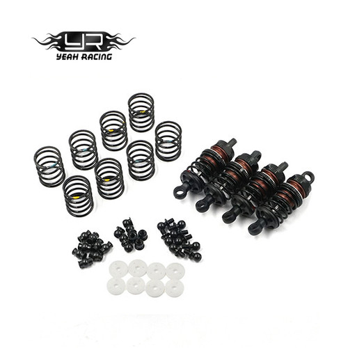 Yeah Racing 50mm Big Bore Go Damper Set for 1/10 Touring Car & MTC - Black