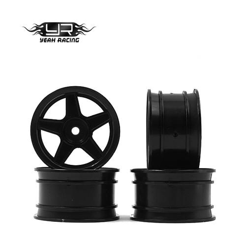 Yeah Racing 1/10 M Chassis MTC Black 5 Spoke Rims (4 pcs)