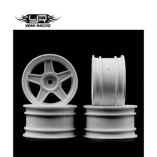 Yeah Racing 1/10 M Chassis MTC White 5 Spoke Rims (4 pcs)