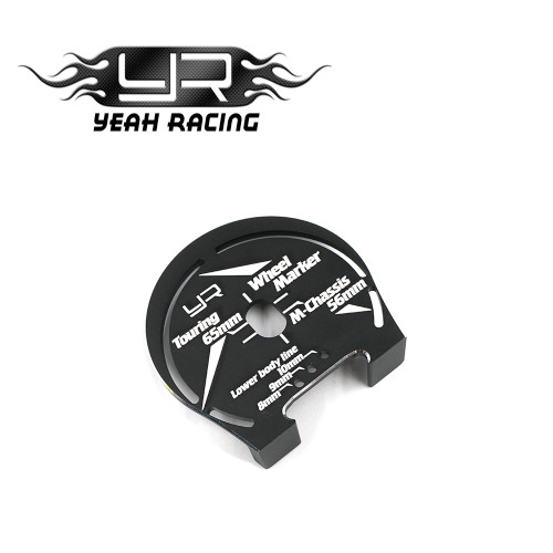Yeah Racing Alloy Wheel Well Marker For 1:10 Touring M-Chassis Black