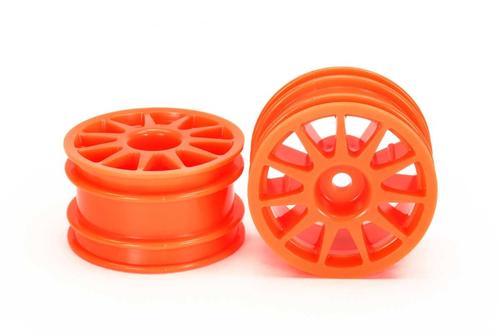 SRC Fluorescent Orange Wheels M Chassis/MTC (2 pcs)