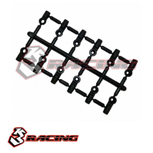 3RACING - 3RAC-BE4816/V2 4.8mm Ball End Set - 16mm & 12mm /V2