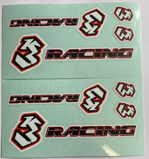 3Racing Sticker Logo Set x 2