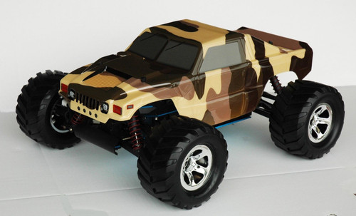 Colt Hammer H1 w/ Decal Mask Body For 1/10 Monster Truck Stampede