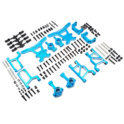 Yeah Racing Aluminium Long-Span Suspension Arms and Knuckles Performance Upgrade Kit For Tamiya WR02/WR02G/GF01