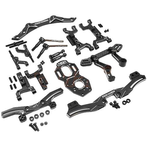 Yeah Racing Aluminium Performance Upgrade Kit For Yokomo YD2 Black