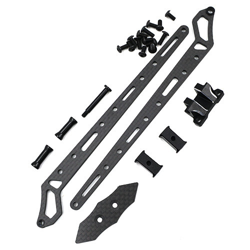 Yeah Racing Graphite Vertical Topdeck Set w/ ESC Mount for YD2S Black