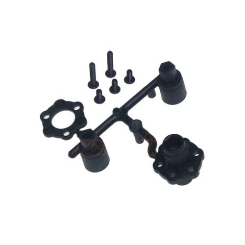 3Racing Plastic Solid Axle Set Black For Sakura D3 D4, M4 Sport