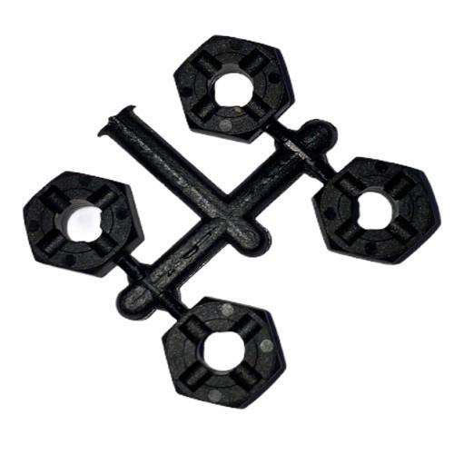 3Racing Hex Adaptor (5mm Thick) - 4PCS For SAKURA D4, M4 Sport