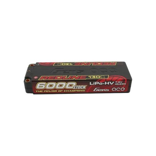 Gens ace Battery LiPo 2S HV 7.6V-6000-130C(5mm)  275g Stick