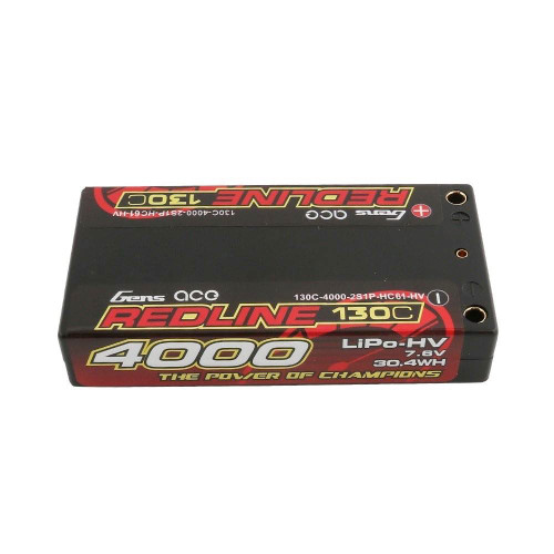Gens ace Battery LiPo 2S HV 7.6V-4000-130C(5mm)  125g Shortie
