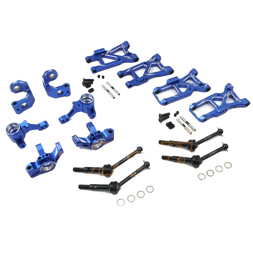 Yeah Racing Aluminium Essential Conversion Kit For Traxxas Ford GT 4 Tec 2.0 Blue