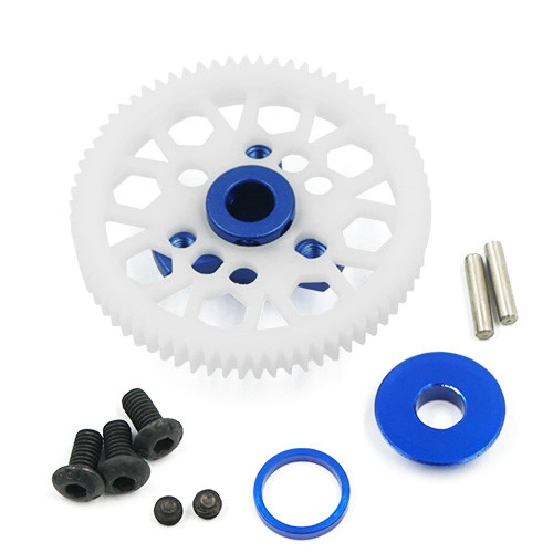 Yeah Racing Aluminium Spur Gear Adapter Blue For Traxxas Ford GT 4 Tec 2.0
