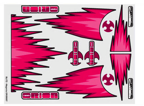 Team Orion internal body graphics Blitz Magenta