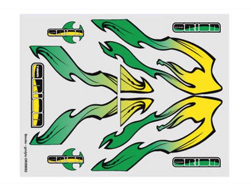 Team Orion internal body graphics Smoke Green/Yellow