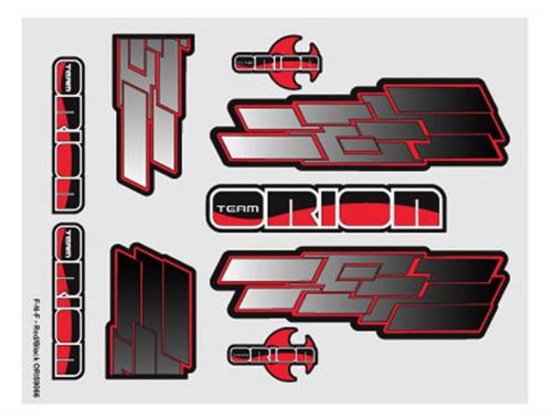 Team Orion internal body graphics F-N-F Red/Black