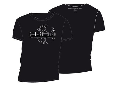 Team Orion Black T-Shirt with White Orion Logo Size XL