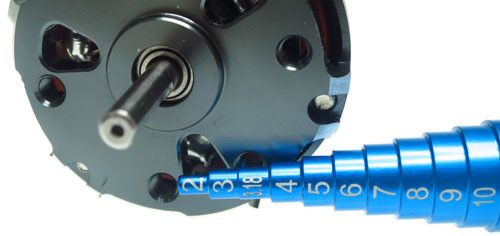 Yeah Racing Bearing and Motor Bearing Inner Size Measurer and Tester Aluminum for 2-15mm - Blue