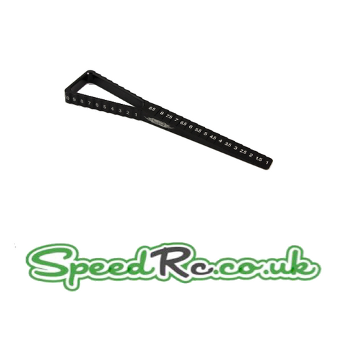 Yeah Racing 2 in 1 Ride Height & Droop Gauge for 1/10th Touring