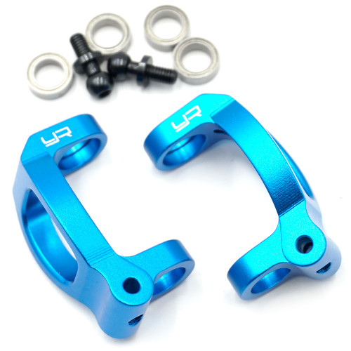 Yeah Racing Alloy C-Hub Set For Tamiya M07 Blue