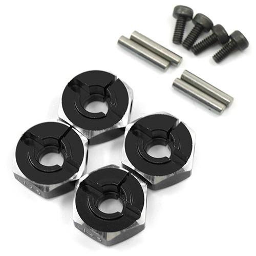 5.0mm Wheel Hex 12mm Fitment Black Alloy