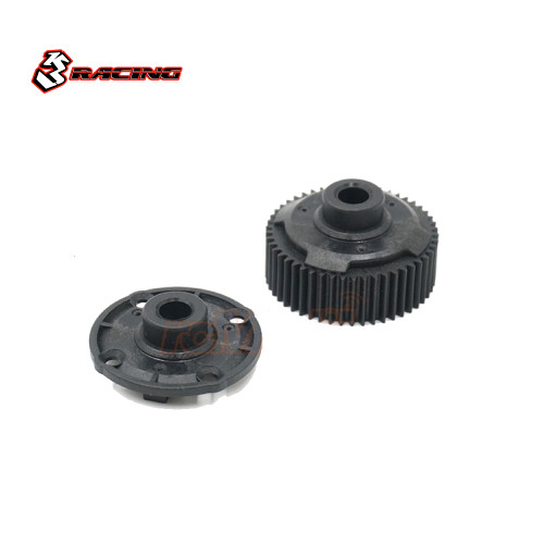 3Racing 50T Gear Differential Case Set Black For Mini MG & Tamiya M07