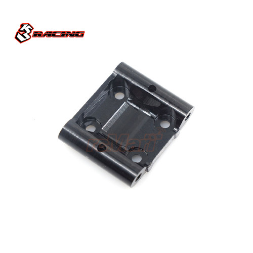 3Racing 7075 Alloy 5 degree Caster Front Lower Suspension Mount Set Black For Tamiya M07