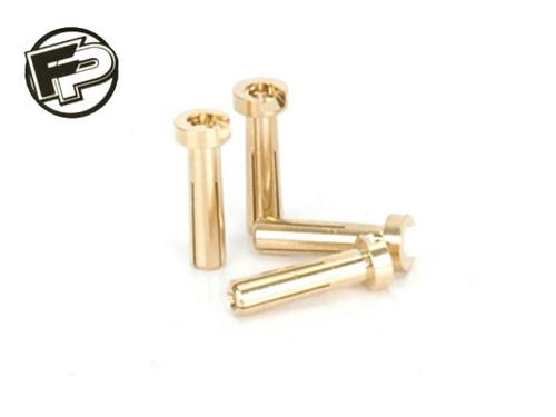 Factory Pro Gold Male Bullet Plug 5 x 18mm (4pcs)