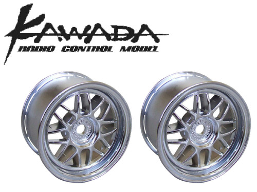 Kawada 8 Mesh Chrome Plate Wheel For Mini MTC Car