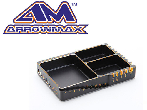 Arrowmax Multi Alu Case For Parts &Screws (120X80X18MM) Black Golden