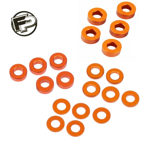 Factory Pro 0.5, 1.0, 2.0, 3.0mm Orange Gold Shim/Washer (20 pcs)