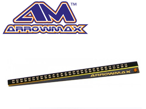 Arrowmax Ultra Fine Chassis Ride Height Gauge 2-8mm Black Golden
