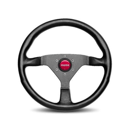 MOMO Steering Wheel Monte Carlo 350mm Leather- MCL35BK3B
