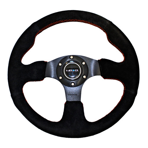 NRG 320mm Sport Suede Steering Wheel Race (ST-012S)