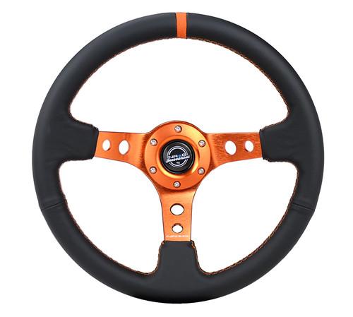 NRG orange steering wheel