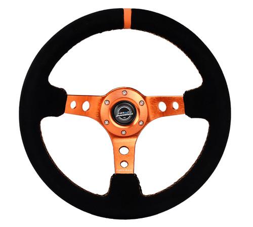 NRG orange suede steering wheel