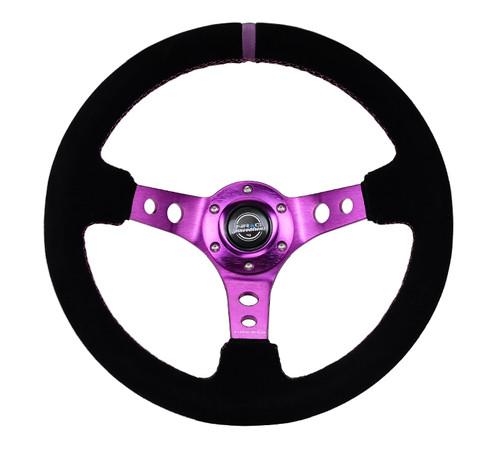 NRG Purple Suede Steering Wheel