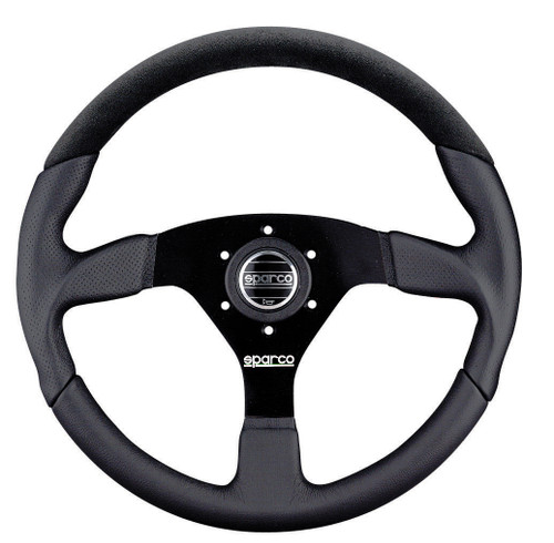 Sparco L505 350mm Alcantara / Leather / Perforated Leather- 015TL522TUV (015TL522TUV)
