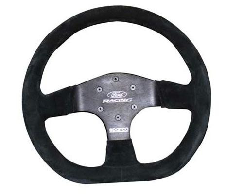 Ford Racing D Shaped Race 350mm Suede - M-3600-R