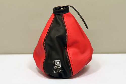 Nardi Leather Gaiter Black / Red (3600.11.0000)