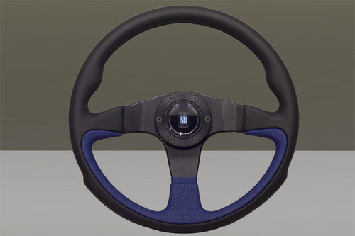 Nardi Challenge Black Blue 350mm Leather