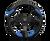 MOMO Quark 350mm Urethane Blue - QRK35BK0BU